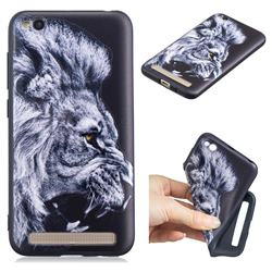 Lion 3D Embossed Relief Black TPU Cell Phone Back Cover for Xiaomi Redmi 5A