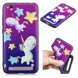 Pony 3D Embossed Relief Black TPU Cell Phone Back Cover for Xiaomi Redmi 5A