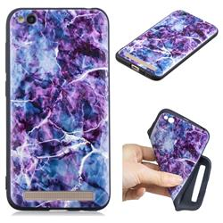 Marble 3D Embossed Relief Black TPU Cell Phone Back Cover for Xiaomi Redmi 5A