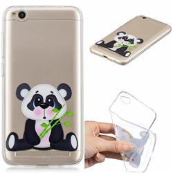 Bamboo Panda Clear Varnish Soft Phone Back Cover for Xiaomi Redmi 5A