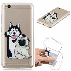 Selfie Dog Clear Varnish Soft Phone Back Cover for Xiaomi Redmi 5A