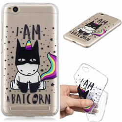 Batman Clear Varnish Soft Phone Back Cover for Xiaomi Redmi 5A
