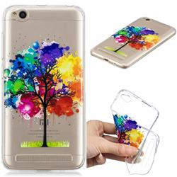 Oil Painting Tree Clear Varnish Soft Phone Back Cover for Xiaomi Redmi 5A