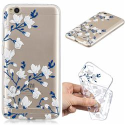 Magnolia Flower Clear Varnish Soft Phone Back Cover for Xiaomi Redmi 5A