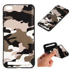 Camouflage Soft TPU Back Cover for Xiaomi Redmi 5A - Black White