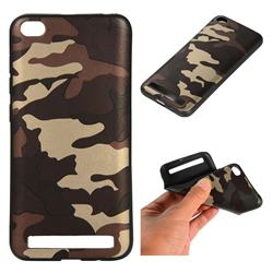 Camouflage Soft TPU Back Cover for Xiaomi Redmi 5A - Gold Coffee