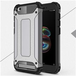 King Kong Armor Premium Shockproof Dual Layer Rugged Hard Cover for Xiaomi Redmi 5A - Silver Grey