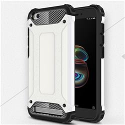 King Kong Armor Premium Shockproof Dual Layer Rugged Hard Cover for Xiaomi Redmi 5A - White