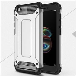 King Kong Armor Premium Shockproof Dual Layer Rugged Hard Cover for Xiaomi Redmi 5A - Technology Silver