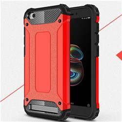 King Kong Armor Premium Shockproof Dual Layer Rugged Hard Cover for Xiaomi Redmi 5A - Big Red