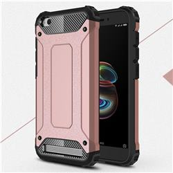 King Kong Armor Premium Shockproof Dual Layer Rugged Hard Cover for Xiaomi Redmi 5A - Rose Gold