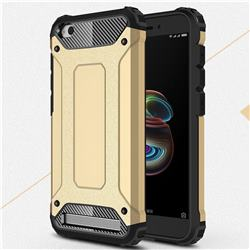 King Kong Armor Premium Shockproof Dual Layer Rugged Hard Cover for Xiaomi Redmi 5A - Champagne Gold