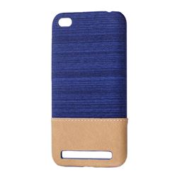 Canvas Cloth Coated Plastic Back Cover for Xiaomi Redmi 5A - Dark Blue