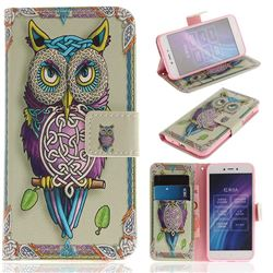 Weave Owl PU Leather Wallet Case for Xiaomi Redmi 5A