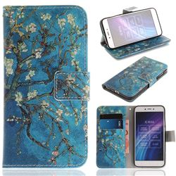Apricot Tree PU Leather Wallet Case for Xiaomi Redmi 5A