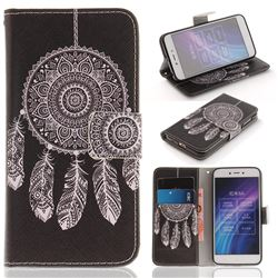 Black Wind Chimes PU Leather Wallet Case for Xiaomi Redmi 5A