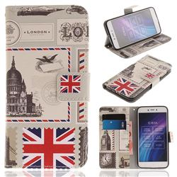 London Envelope PU Leather Wallet Case for Xiaomi Redmi 5A