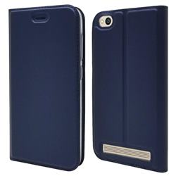 Ultra Slim Card Magnetic Automatic Suction Leather Wallet Case for Xiaomi Redmi 5A - Royal Blue