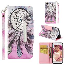 Angel Monternet Big Metal Buckle PU Leather Wallet Phone Case for Xiaomi Redmi 5A