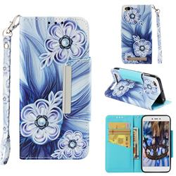 Button Flower Big Metal Buckle PU Leather Wallet Phone Case for Xiaomi Redmi 5A