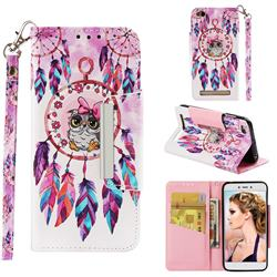 Owl Wind Chimes Big Metal Buckle PU Leather Wallet Phone Case for Xiaomi Redmi 5A