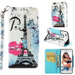 Lip Tower Big Metal Buckle PU Leather Wallet Phone Case for Xiaomi Redmi 5A