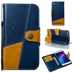 Retro Magnetic Stitching Wallet Flip Cover for Xiaomi Redmi 5A - Blue