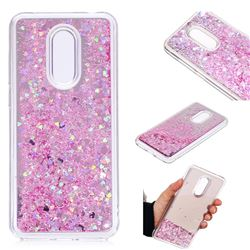 Glitter Sand Mirror Quicksand Dynamic Liquid Star TPU Case for Mi Xiaomi Redmi 5 Plus - Cherry Pink