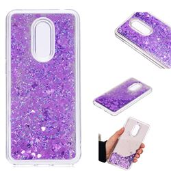 Glitter Sand Mirror Quicksand Dynamic Liquid Star TPU Case for Mi Xiaomi Redmi 5 Plus - Purple