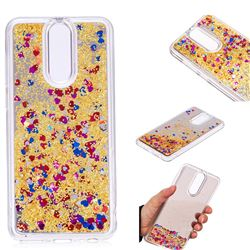 Glitter Sand Mirror Quicksand Dynamic Liquid Star TPU Case for Mi Xiaomi Redmi 5 Plus - Yellow