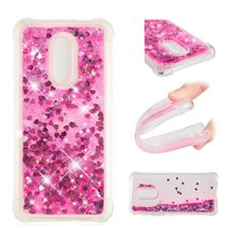 Dynamic Liquid Glitter Sand Quicksand TPU Case for Mi Xiaomi Redmi 5 Plus - Pink Love Heart