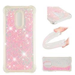 Dynamic Liquid Glitter Sand Quicksand TPU Case for Mi Xiaomi Redmi 5 Plus - Silver Powder Star