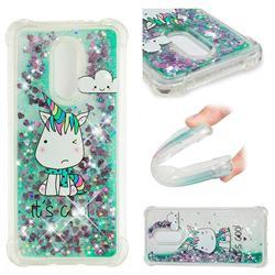 Tiny Unicorn Dynamic Liquid Glitter Sand Quicksand Star TPU Case for Mi Xiaomi Redmi 5 Plus