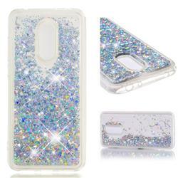 Dynamic Liquid Glitter Quicksand Sequins TPU Phone Case for Mi Xiaomi Redmi 5 Plus - Silver