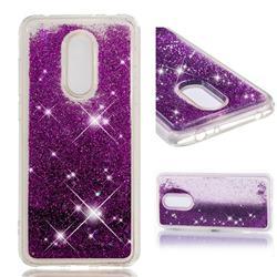 Dynamic Liquid Glitter Quicksand Sequins TPU Phone Case for Mi Xiaomi Redmi 5 Plus - Purple