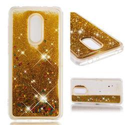 Dynamic Liquid Glitter Quicksand Sequins TPU Phone Case for Mi Xiaomi Redmi 5 Plus - Golden
