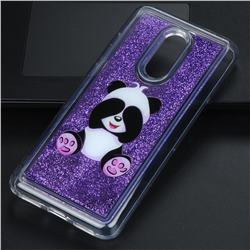 Naughty Panda Glassy Glitter Quicksand Dynamic Liquid Soft Phone Case for Mi Xiaomi Redmi 5 Plus