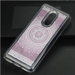 Mandala Glassy Glitter Quicksand Dynamic Liquid Soft Phone Case for Mi Xiaomi Redmi 5 Plus