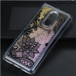 Diagonal Lace Glassy Glitter Quicksand Dynamic Liquid Soft Phone Case for Mi Xiaomi Redmi 5 Plus