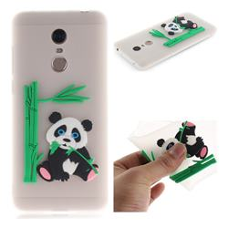 Panda Eating Bamboo Soft 3D Silicone Case for Mi Xiaomi Redmi 5 Plus - Translucent