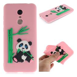 Panda Eating Bamboo Soft 3D Silicone Case for Mi Xiaomi Redmi 5 Plus - Pink