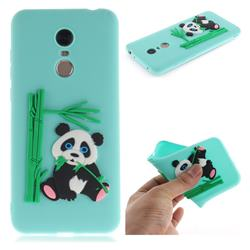 Panda Eating Bamboo Soft 3D Silicone Case for Mi Xiaomi Redmi 5 Plus - Green