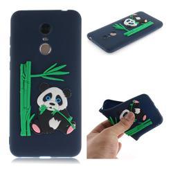 Panda Eating Bamboo Soft 3D Silicone Case for Mi Xiaomi Redmi 5 Plus - Dark Blue