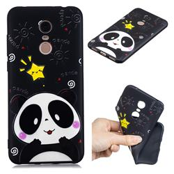 Cute Bear 3D Embossed Relief Black TPU Cell Phone Back Cover for Mi Xiaomi Redmi 5 Plus