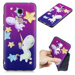 Pony 3D Embossed Relief Black TPU Cell Phone Back Cover for Mi Xiaomi Redmi 5 Plus