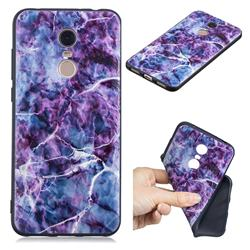 Marble 3D Embossed Relief Black TPU Cell Phone Back Cover for Mi Xiaomi Redmi 5 Plus