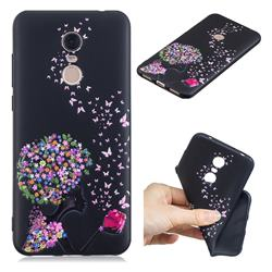 Corolla Girl 3D Embossed Relief Black TPU Cell Phone Back Cover for Mi Xiaomi Redmi 5 Plus