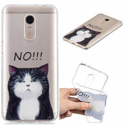 Cat Say No Clear Varnish Soft Phone Back Cover for Mi Xiaomi Redmi 5 Plus