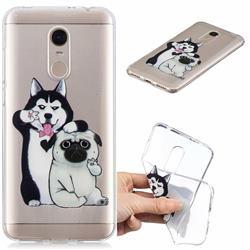 Selfie Dog Clear Varnish Soft Phone Back Cover for Mi Xiaomi Redmi 5 Plus