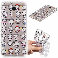Mini Panda Clear Varnish Soft Phone Back Cover for Mi Xiaomi Redmi 5 Plus